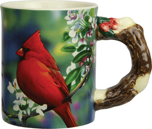 Coffee Mug - Cardinal Scene 3D 15oz - GrayGoose Products Limited