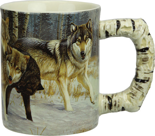 Coffee Mug - Wolf Scene 3D 15oz - GrayGoose Products Limited