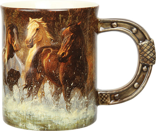 Coffee Mug - Horse Scene 3D 15oz - GrayGoose Products Limited
