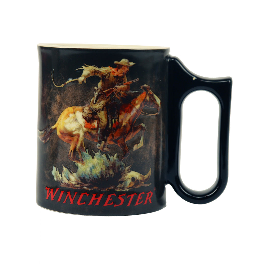 Coffee Mug - Winchester Horse/Rider 3D 15oz - GrayGoose Products Limited