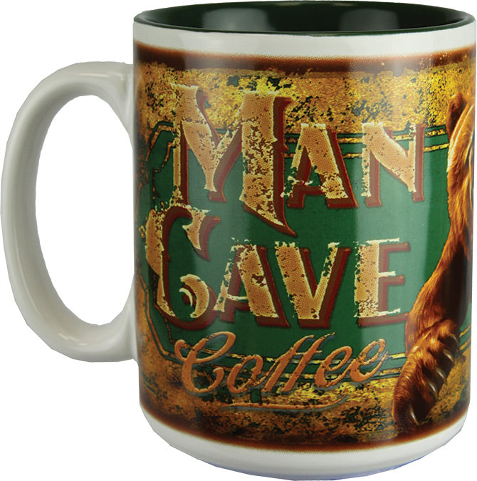 Coffee Mug - Bear Man Cave 16oz - GrayGoose Products Limited