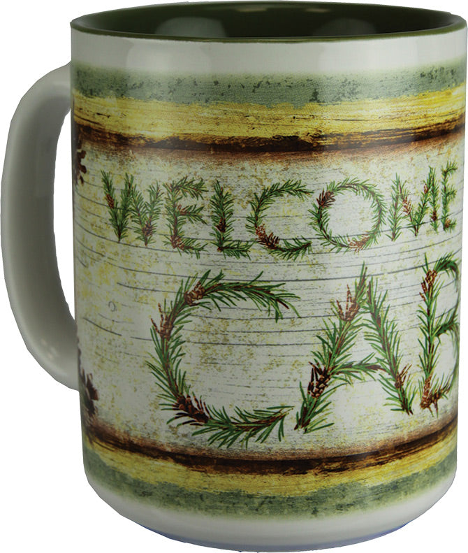 Coffee Mug - Welcome To The Cabin 16oz - GrayGoose Products Limited