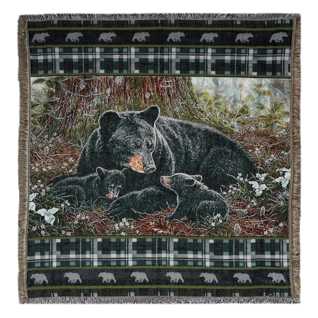 Tapestry Throw 50in x 60in - Bear - GrayGoose Products Limited