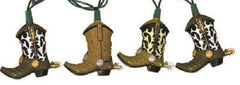 10 Piece Cowboy Boot Light Set