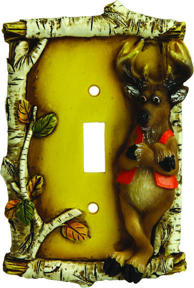 Cute Deer Single Switch Cover - GrayGoose Products Limited