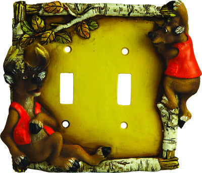 Cute Deer Double Switch Cover - GrayGoose Products Limited