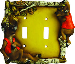 Cute Deer Double Switch Cover