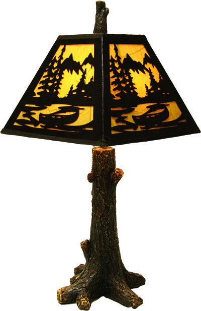 Table Lamp - Rustic Tree
