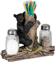 Salt & Pepper Shaker Set - Bear w/ Tooth Pick Holder - GrayGoose Products Limited
