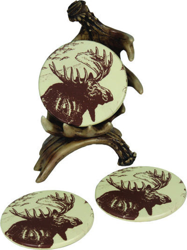 Moose Antler Coaster 4 Piece Set - GrayGoose Products Limited