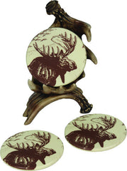 Moose Antler Coaster 4 Piece Set