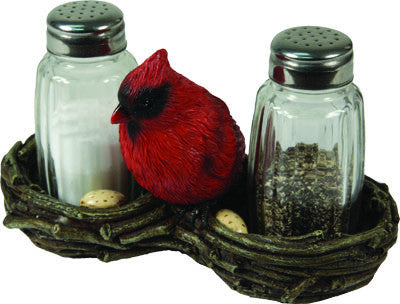 Salt & Pepper Shaker Set - Cardinal