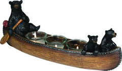 Bears in Canoe 3 Piece Candle