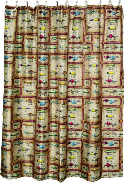 Antique Lure Shower Curtain - GrayGoose Products Limited