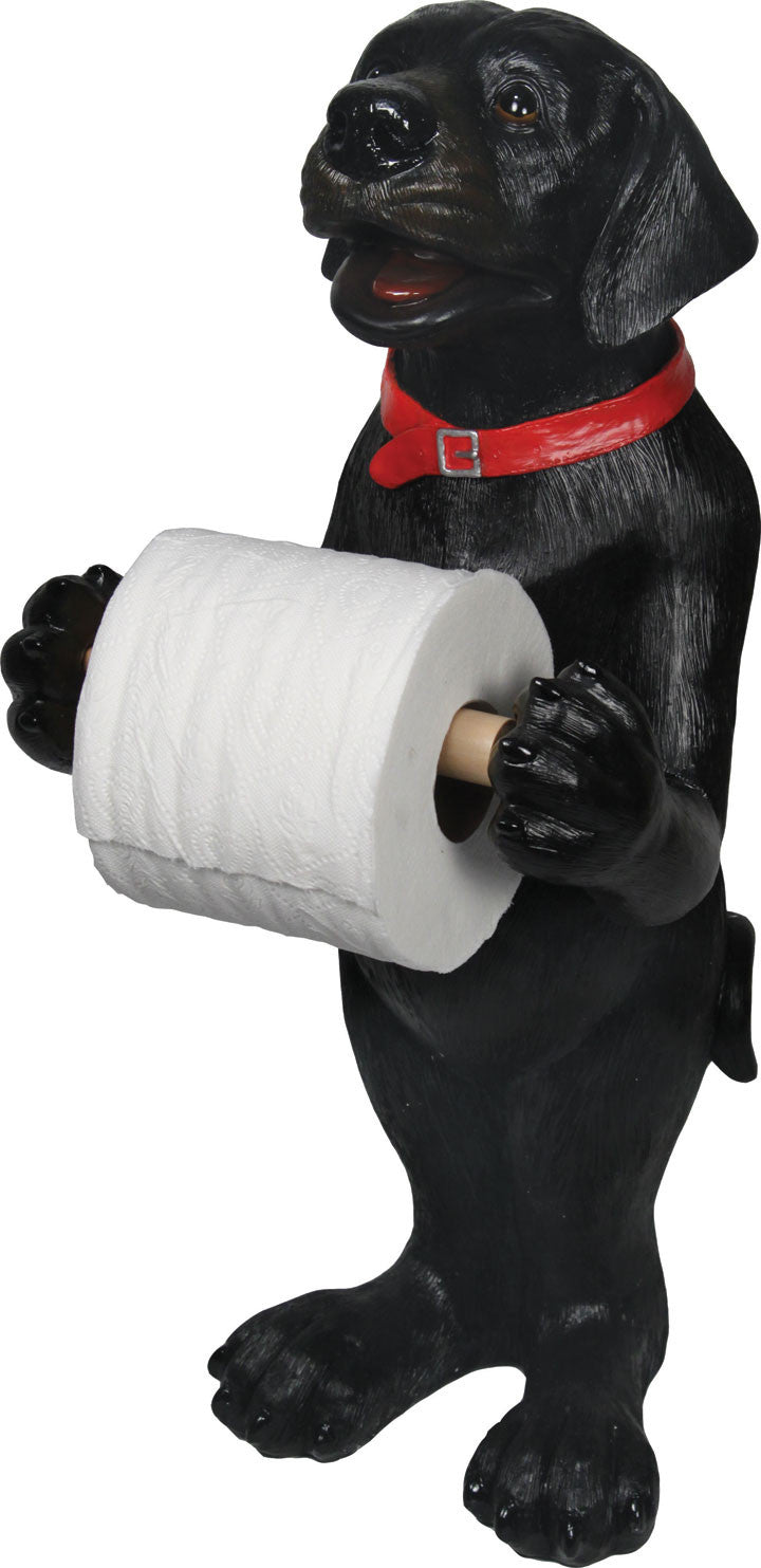 Standing Black Lab Toilet Paper Holder - GrayGoose Products Limited