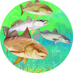 Lazy Susan - Guy Harvey Redfish/Trout 14""