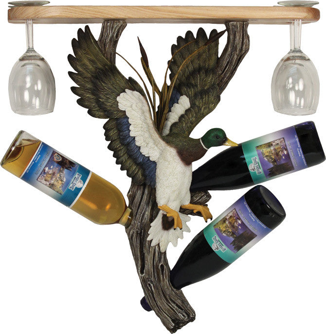Wine Bottle Holder Shelf - Duck - GrayGoose Products Limited