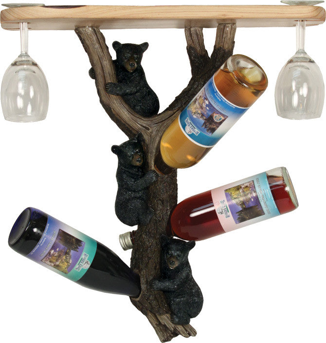 Wine Bottle Holder Shelf - Bears - GrayGoose Products Limited