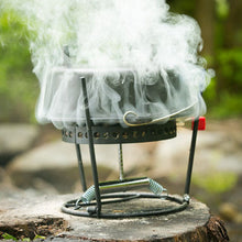 "CampMaid Combo Set Lid Lifter/Flip Grill/Charcoal/Wood Holder Heat Source/KickStand and 12"" Oven - GrayGoose Products Limited"