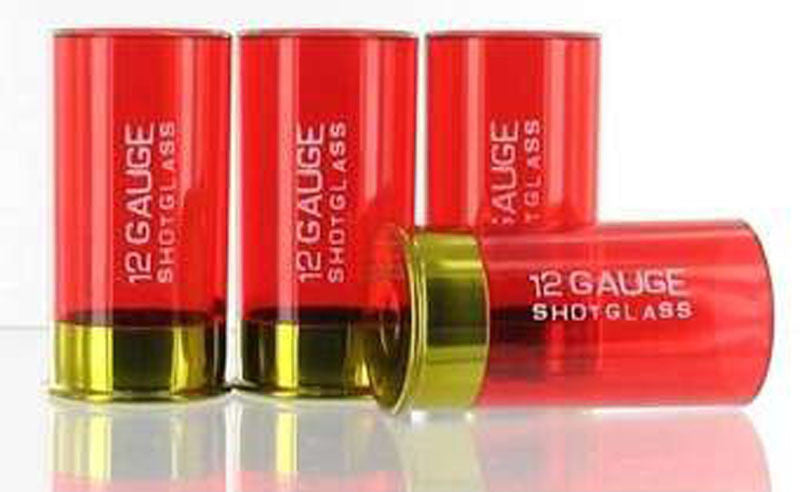 12 Gauge Shotgun Shell Shot Glass - Pack of 4 - GrayGoose Products Limited