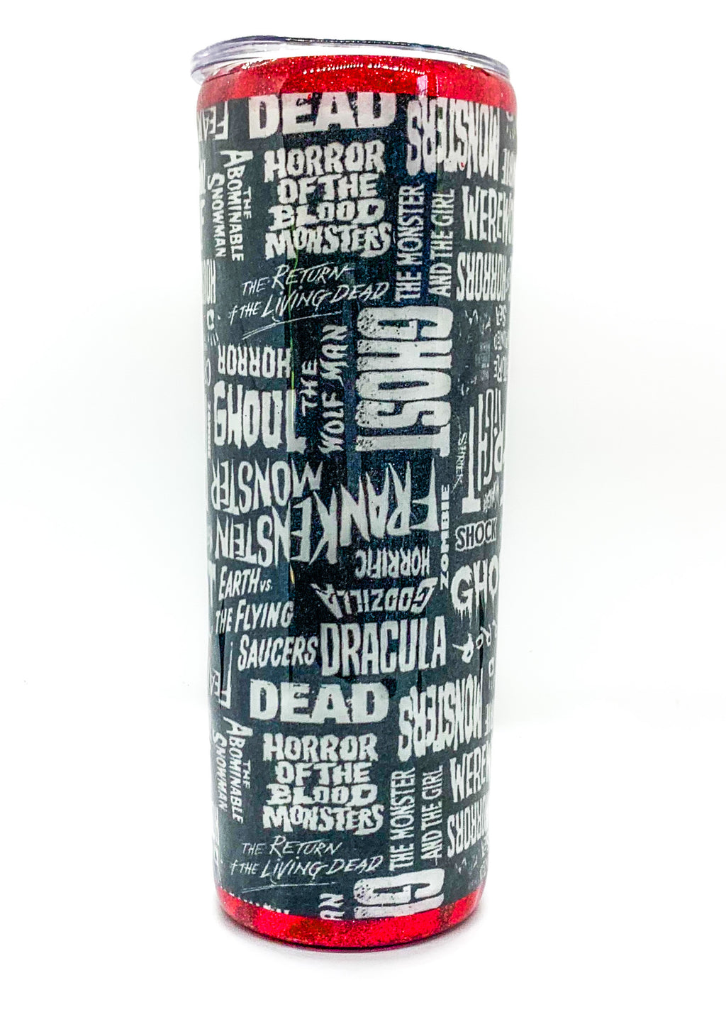 Horror Words Fabric tumbler