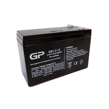 GP1272 Sealed lead acid battery, sla, 12V 7.2Ah sealed lead acid