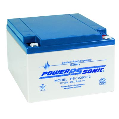 powersonic, power sonic, PS-12260, 12V 26Ah, F2 terminal, sla, sealed lead acid