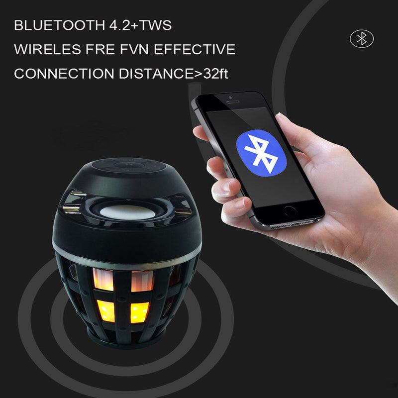bluetooth speaker, virtual flame, bluetooth music, dancing flame