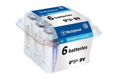 westinghouse, alkaline 9V, 9V battery