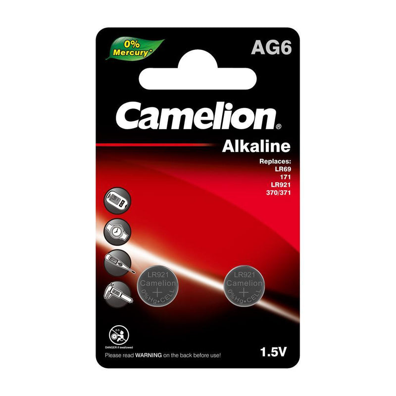 AG6, LR69, 171, LR921, 370, 371, camelion alkaline button cell batteries
