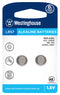 Westinghouse AG7 / 395 / LR926 1.5V Button Cell Battery 2pk