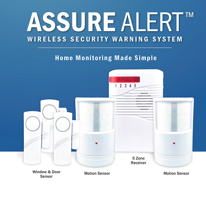 Assure Alert Wireless Security Warning System, warning system, security system, alarm system, intruder alert