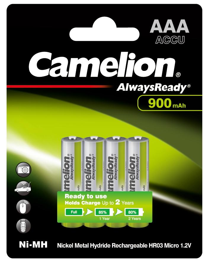 AAA camelion always read 900mAh batteries, NI-MH, nickel metal hydride, AAA batteries, AAA rechargeable