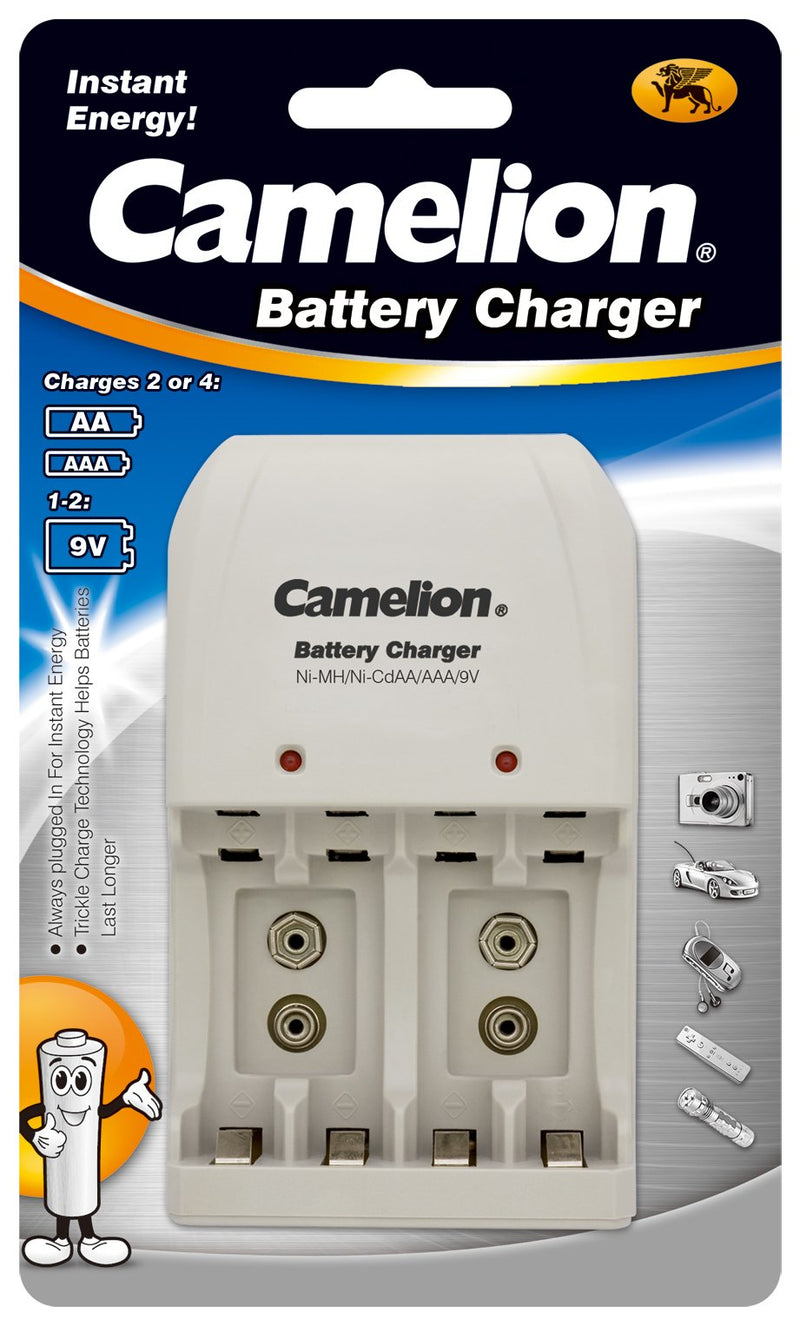 Camelion battery charger, AA battery charger, AAA battery charger, 9V battery charger