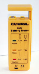 Camelion Retractable Battery Tester AA,AAA,C,D 9V