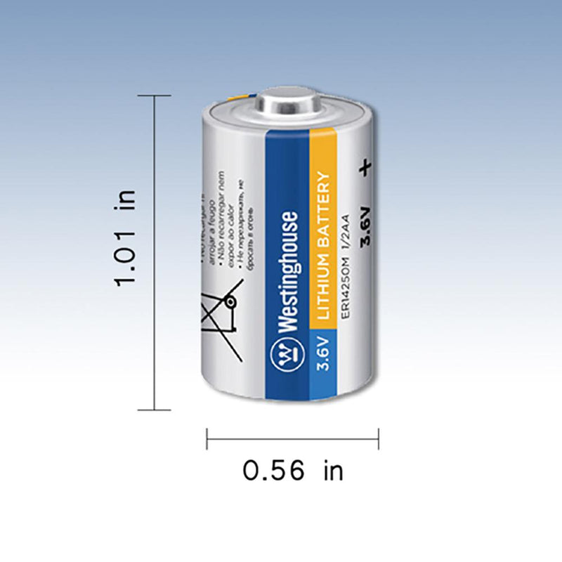 ER14250 1/2AA battery, lithium primary battery, 3.6V battery, 1/2AA battery, westinghouse