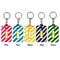 Fashion Micron COB LED Keyring Flashlight