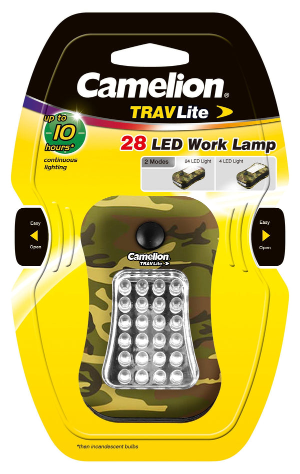 camelion, travlite, LED light, work light, flashlight, travel light, camo, hunting light, camping light