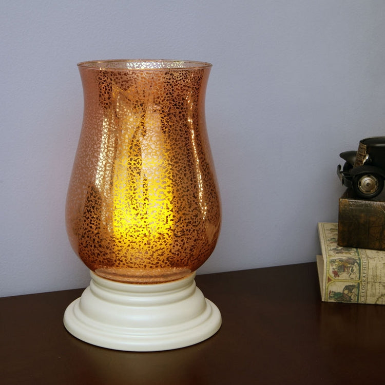 Alexandria Mercury Glass Hurricane with Flameless Candle