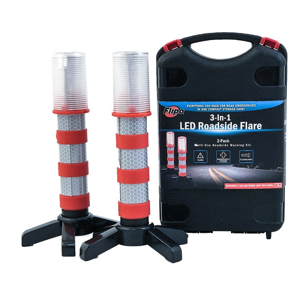 flare, road flare, digital flare, reusable flare, roadside assistance, road safety, car lights, emergency lights
