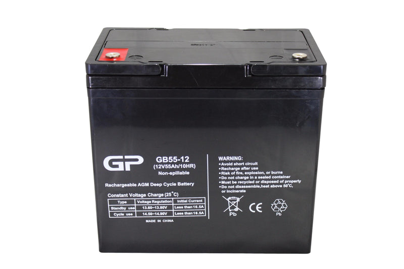 GP12-55 sealed lead acid battery, sla, 12V 55AH sealed lead acid