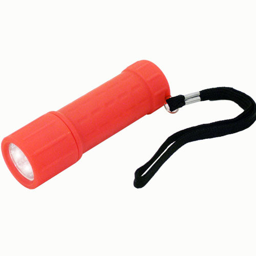 compact mini led flashlight rubber-grip