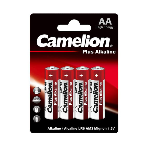 Camelion AA Alkaline Plus Blister Pack of 4