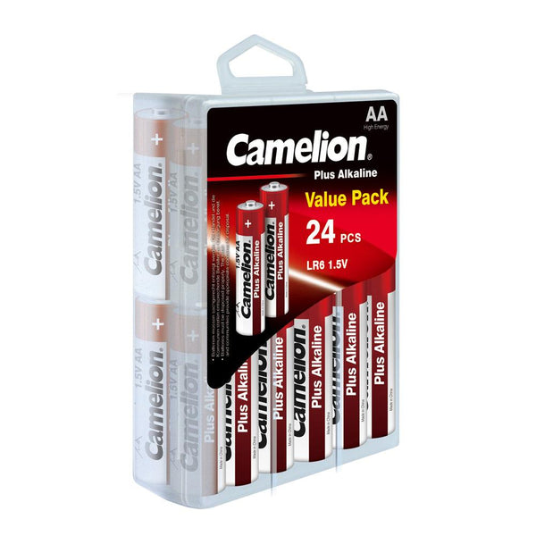 Camelion AA alkaline plus, AA batteries, AA, AA alkaline batteries, 24 pack AA batteries
