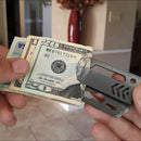 money clip, slim money clip, multi-tool, money clip tool, pocket money clip, money holder, metal money holder, travel tool, wrench, pry, bottle opener money clip, screwdriver, ruler, multipurpose, multipurpose money clip