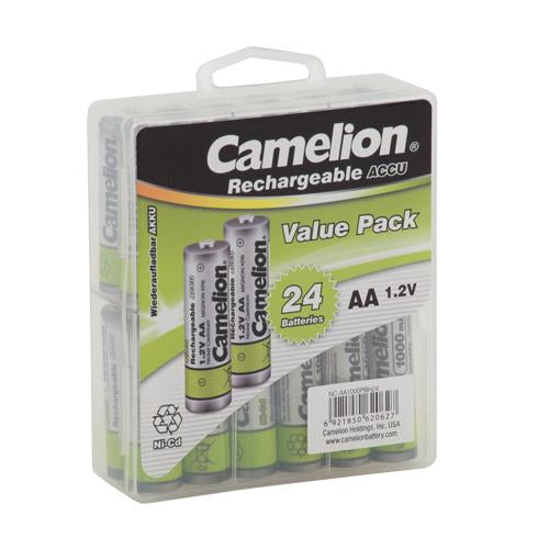 camelion, camelion rechargeable batteries, AA rechargeable, AA 24 rechargeable batteries, AA Rechargeable 24 pack