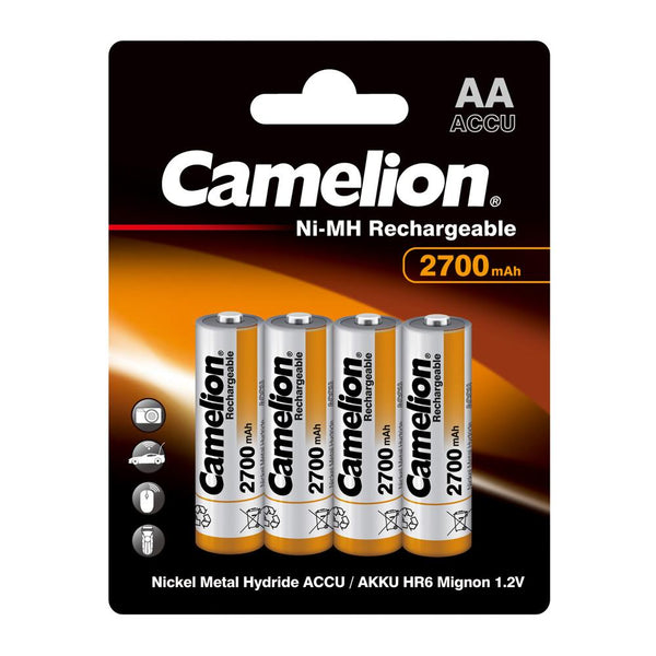 AA 2700mAh nickel metal hydride batteries, AA Rechargeable, AA rechargeable 4 pack, 700mAh