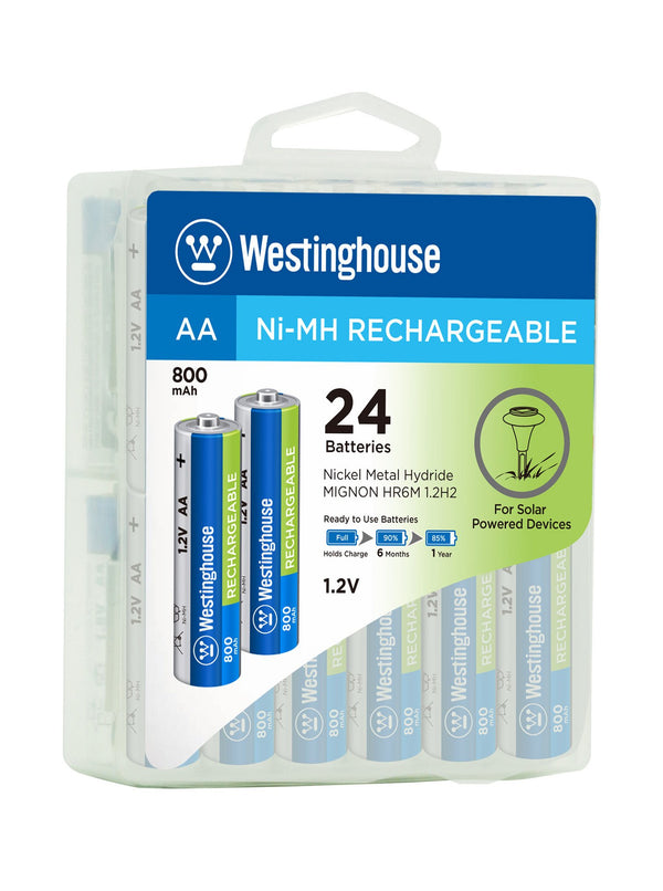 Westinghouse AA Ni-Mh Rechargeable Batteries 800 Hard Pack of 24