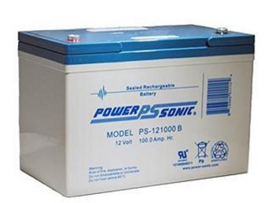 sealed lead acid, sla, power sonic, powersonic, PS-121000, 12V 100Ah, internally threaded