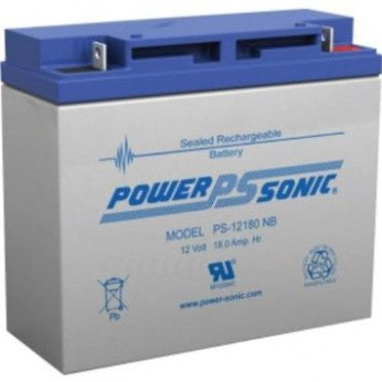 powersonic, power sonic, PS-12180, 12V, 18Ah, nut and bolt terminal, sla, sealed lead acid
